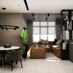 Дизайн интерьера в ЖК Галактика – кухня и столовая