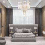 Дизайн спальни в квартире в ЖК Липинка