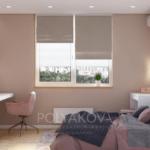 Дизайн спальни и рабочей зоны в квартире ЖК Теремки 2