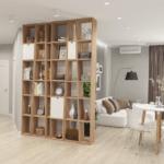 Дизайн прихожей и гостиной в ЖК RiverStone