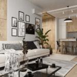 Дизайн интерьера гостиной в ЖК Липинка