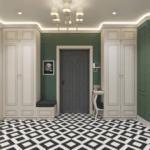Дизайн интерьера просторной прихожей в квартире ЖК Шевченковский