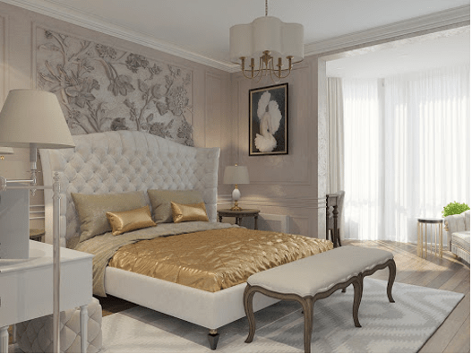 Bedroom in the style of modern classics