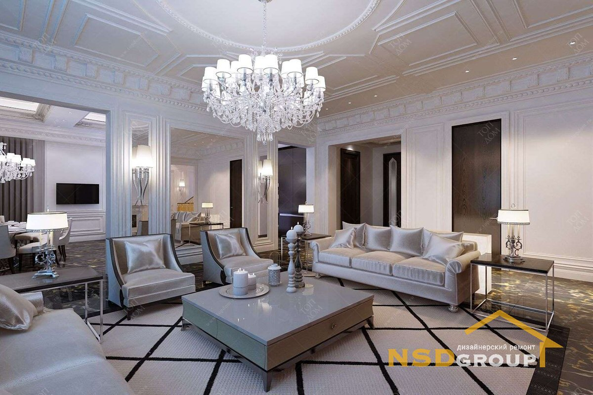 Фото Apartment design in the style of modern classics