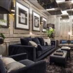 Элитный дизайн интерьера гостиной комнаты в ЖК Linden Luxury Residences