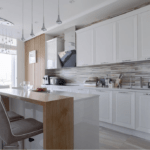 Дизайн интерьера кухни и обеденной зоны в квартире ЖК Richmond
