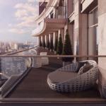 Оформление зоны отдыха на балконе в ЖК Linden Luxury Residences