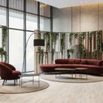 Эко-дизайн интерьера гостиной ЖК Поэтика