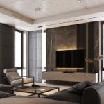 Дизайн уютной гостиной и зоны отдыха в квартире ЖК Вест Хаус