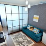 Дизайн компактной зоны отдыха в квартире ЖК по ул. Обуховская