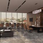 Удобная рабочая зона в современном стиле в ЖК Метрополь