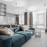 Дизайн интерьера гостиной в ЖК Тридцать восьмая жемчужина
