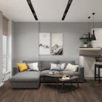 Дизайн квартиры студии в квартире ЖК Чикаго