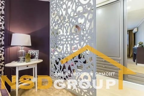 Decorative partition in the room